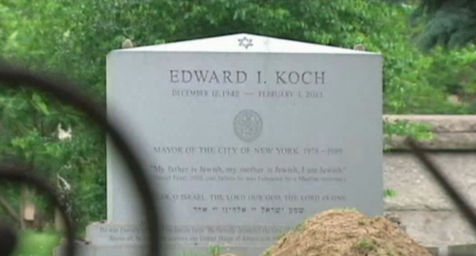 Correct the Record! Ed Koch's Gravestone Etched With Botched Birthdate