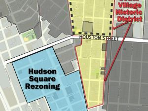 The proposed historic districts.