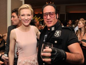 Cate Blanchett and Andrew Dice Clay. Naturally. (Getty)