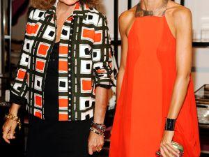 Diane von Furstenberg and Natalie Joos.