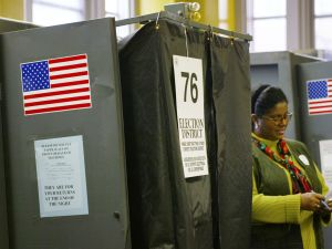 New York City voting booths.