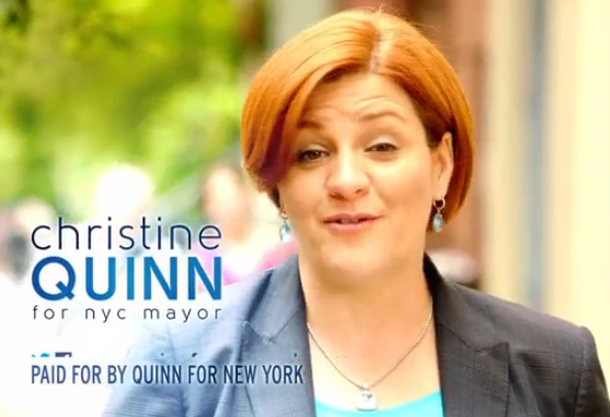 Christine 'Middle Class' Quinn Launches First TV Ad