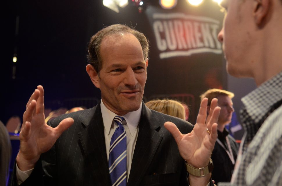 Eliot Spitzer Expects to Win Comptroller's Race