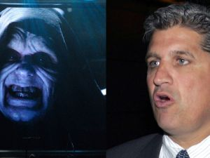 Emperor Palpatine and Councilman Domenic Recchia. (Photo Composite: Getty)