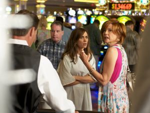 Kristen Wiig, center, and Annette Bening in Girl Most Likely.