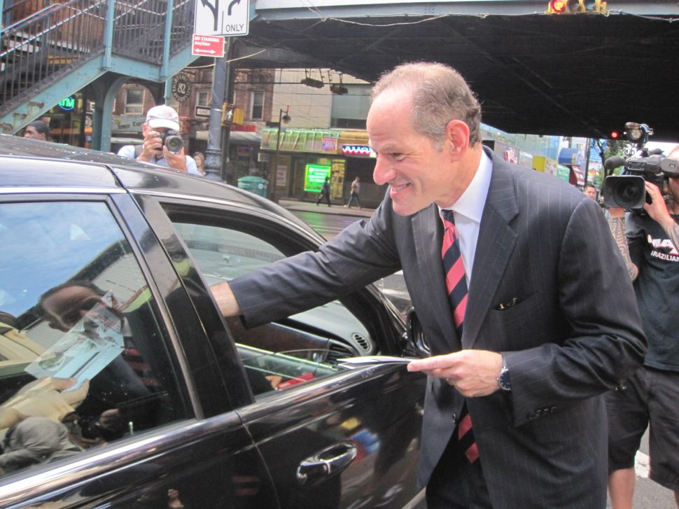 Eliot Spitzer Returns to the Campaign Trail