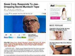 A screenshot of The Huffington Post headline.