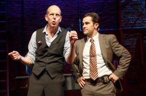Jeff Blumenkrantz and Brett Ryback in 'Murder for Two.' (Photo by Joan Marcus)
