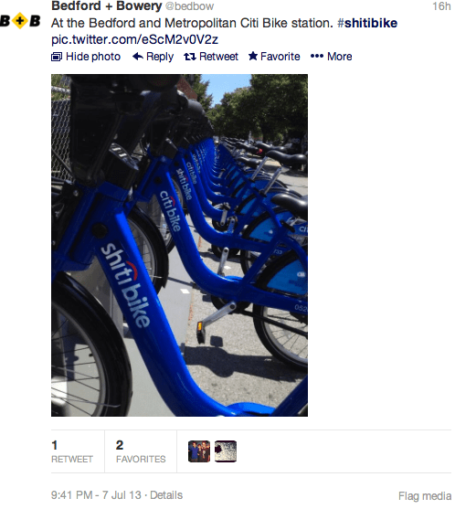 Gimme an S! Gimme an H! 'Shiti Bike' Stickers Take Over NYC, Twitter