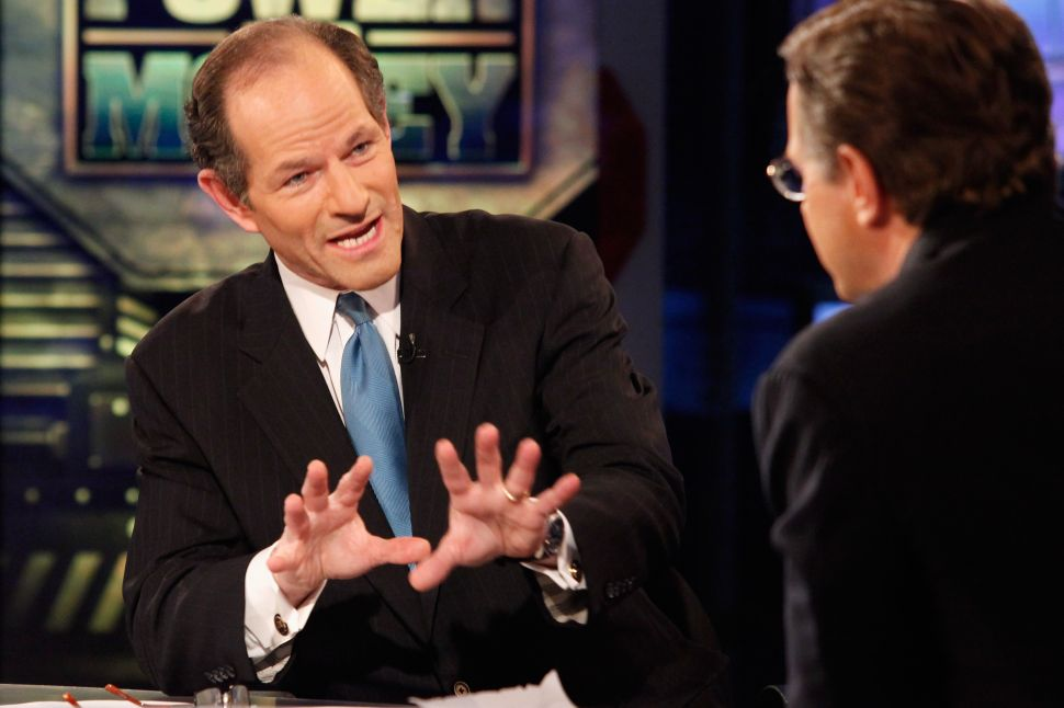 Eliot Spitzer Makes Case for Candidacy in 'Land of Second Chances'