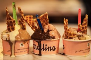 Mixing and matching Stellina's gelato and sorbet might be the greatest ice cream decision ever made.