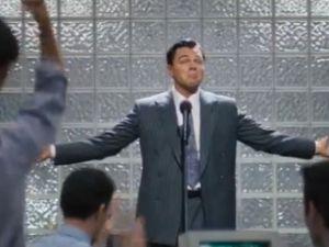 Leonardo DiCaprio as Jordan Belfort. (YouTube)