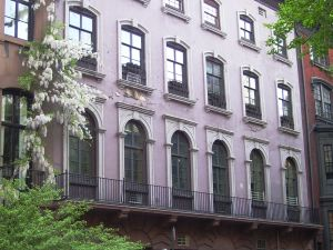 Three townhouses were combined to create the co-op building at 19-23 West 9th Street.