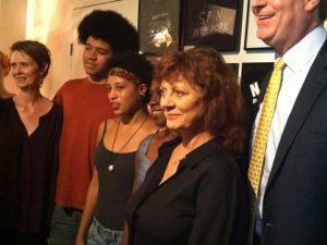 Cynthia Nixon, Susan Sarandon and the entire de Blasio clan.