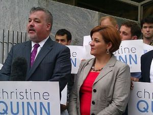 Assemblyman Danny O'Donnell and Speaker Christine Quinn at today's event.