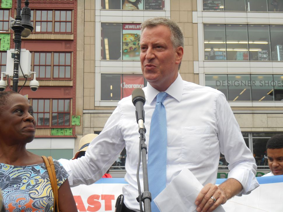 Poll: Bill de Blasio Holds Solid Lead Going Into Primary