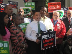 John Liu vowed to win the race, despite the loss of his matching funds.