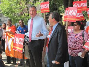 Bill de Blasio this afternoon.