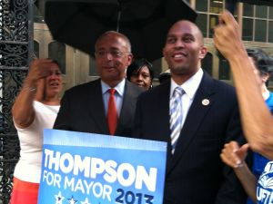 Hakeem Jeffries and Bill Thompson today.