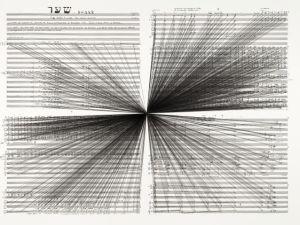 'Mass Black Implosion (Shaar, Iannis Xenakis),' 2012. (Courtesy the artist and Anna Schwartz Gallery)