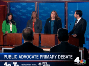 The candidates for public advocate. (Screenshot: NBC4)