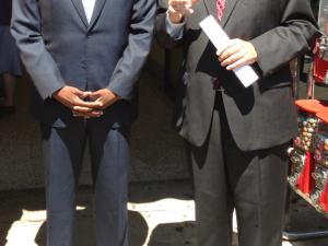 Ken Thompson with Assemblyman Dov Hikind. (Photo: Thompson campaign)