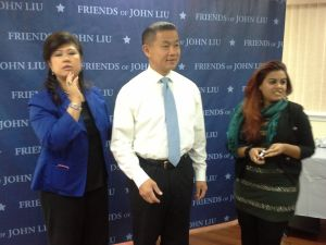 John Liu yesterday with his top consultant at his right, Chung Seto.