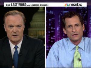 Anthony Weiner on Monday night on MSNBC.