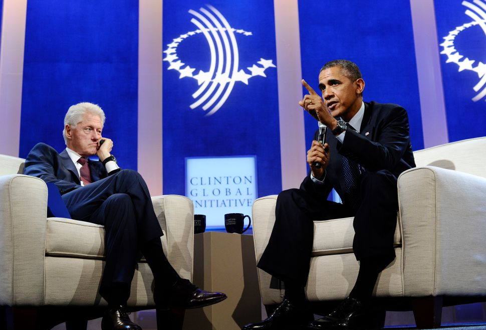 Barack Obama and Bill Clinton Have a Health Care Sit-Down in New York