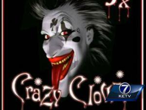 Crazy Clown (Photo via KETV7)