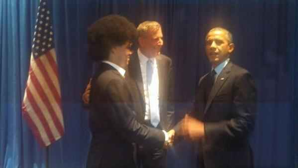 The President of the United States Encounters Dante de Blasio's Afro