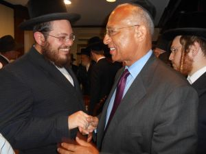 Bill Thompson in Boro Park in last night.