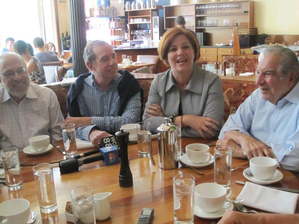 Christine Quinn Takes a Seat at Ed Koch's Table