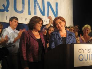 Christine Quinn tonight.
