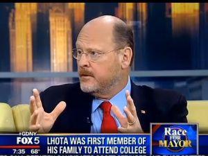 Joe Lhota during a past appearance on Fox 5.