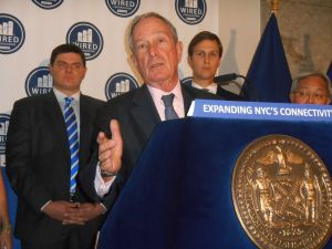 Mayor Michael Bloomberg today.