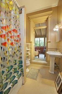 A nice bathroom. Not a luxury bathroom.