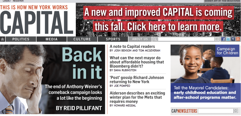 Politico Publisher Robert Allbritton Purchases Capital New York