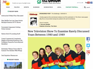 The Goldbergs Sponsor Posts On The Onion