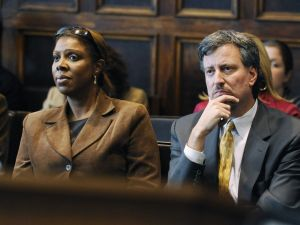 Tish James and Bill de Blasio. (Photo: Getty)