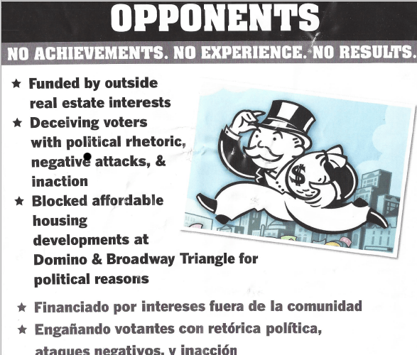 Vito Lopez Hits 'Opponents' in New Mailer
