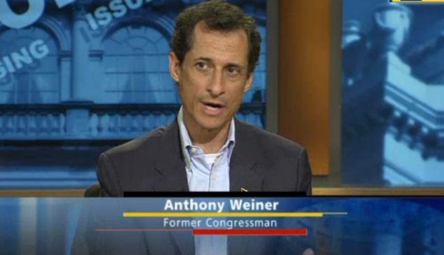 Anthony Weiner on NY1. (Photo: NY1)