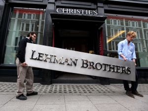 Lehman Brothers put their artworks up for auction.