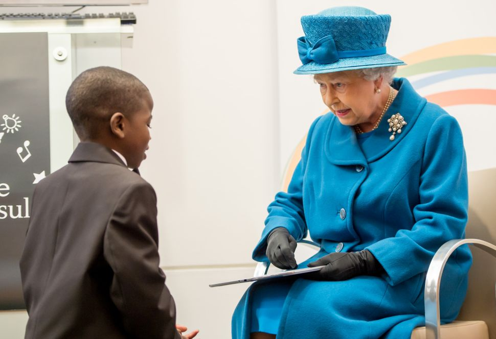 England's Nana Queen Elizabeth Wonders If Maybe the Kids Should Put Those iPads Down