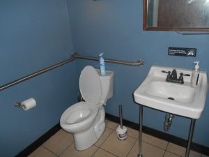 The alleged bathroom.