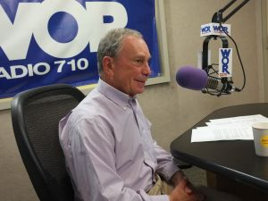 Mayor Michael Bloomberg on the radio.