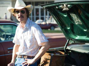 Matthew McConaughey as Ron Woodruff in Dallas Buyers Club.