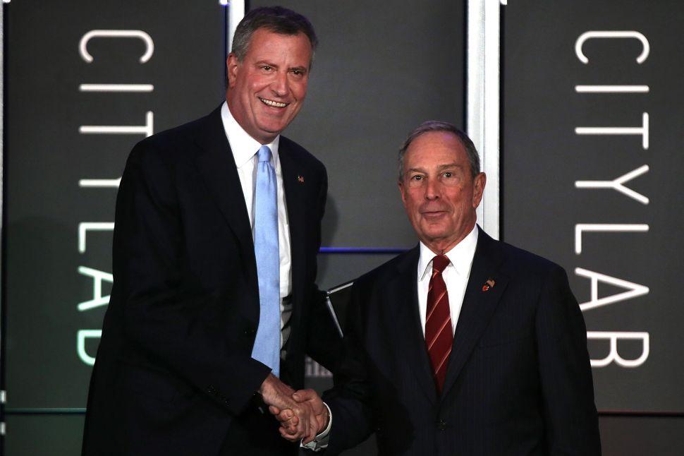 Bloomberg Praises de Blasio's First Administration Picks