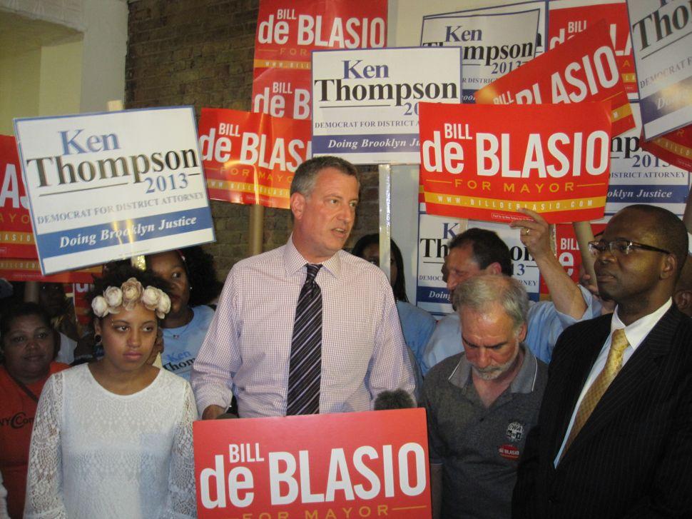 Bill de Blasio Has Choice Words for Charles Hynes