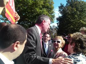 Bill de Blasio at today's parade.